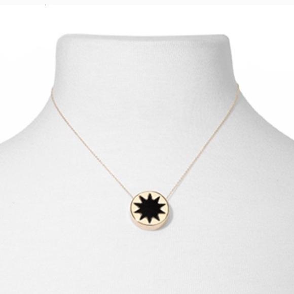 House Of Harlow Mini Sunburst Pendant Necklace in Metallic Gold lRaGp